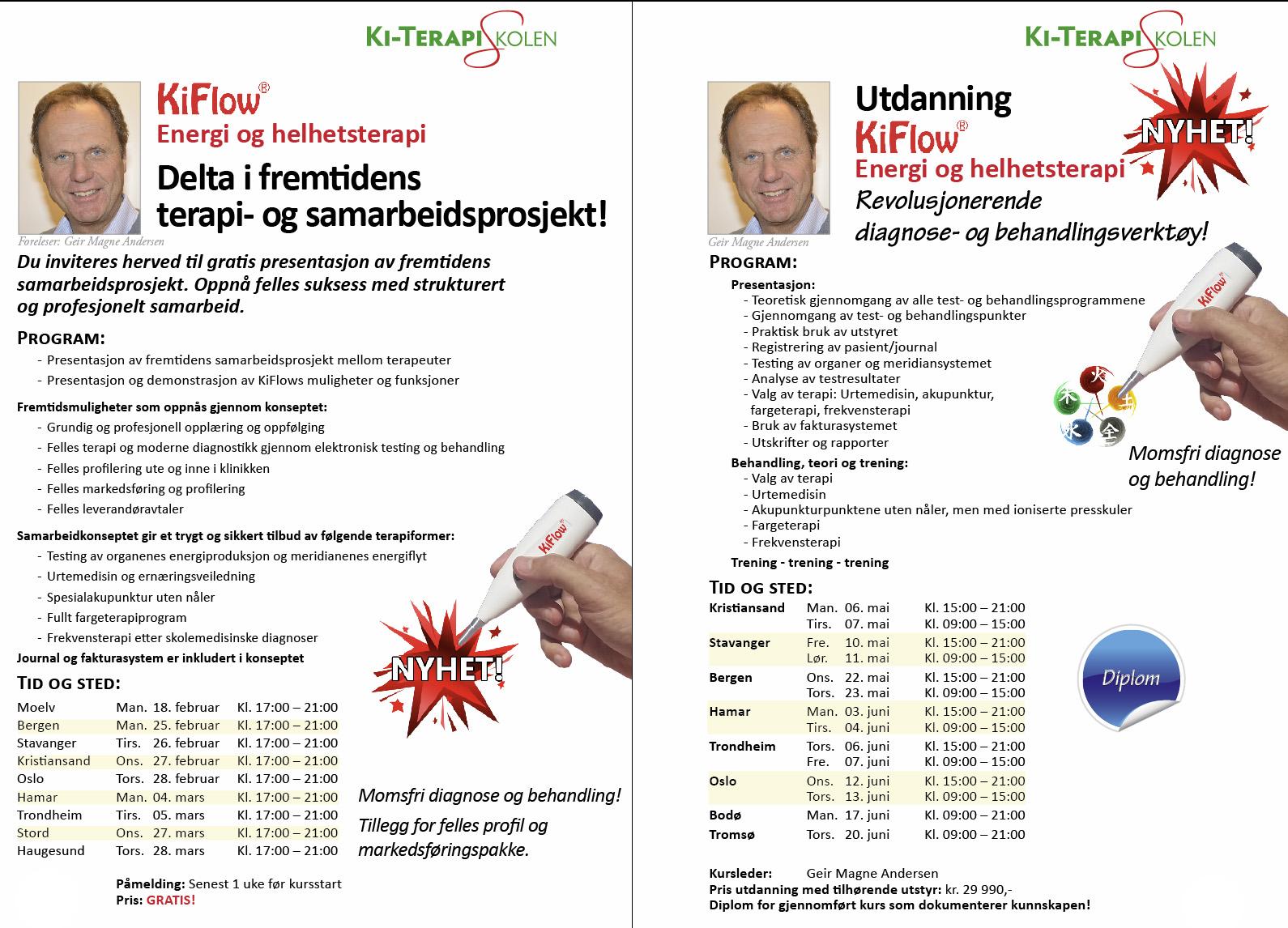 KiFlow presentasjon og utdanning